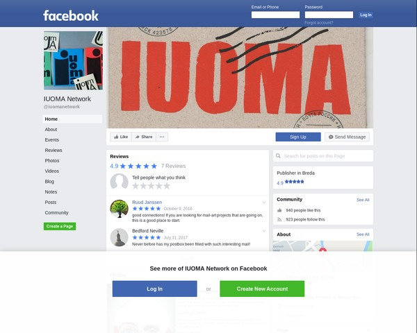 IUOMA network on Facebook